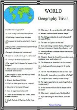 World Geography Trivia