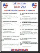 All 50 States Trivia Quiz
