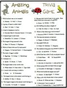 Amazing Animals trivia game