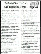 Bible Trivia Quiz, Both O.T. and N.T.