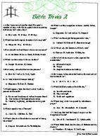 Bible Trivia II & III