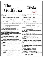 Godfather Trivia, All Three Movies