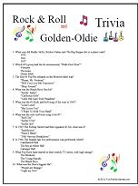 Rock & Roll AND Golden Oldie Trivia
