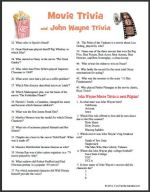Movie trivia with John Wayne trivia