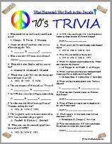 1970's Trivia