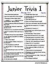 Junior Trivia Ages 5 to 9