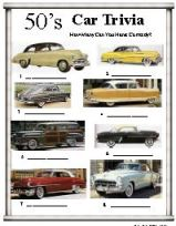 50's car trivia do you remember?