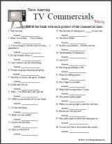 TV Commercials Our original game Do you Remember?