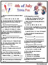 July 4TH Trivia