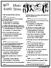 Big Band Trivia....Great Music Era