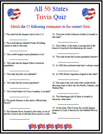 Invaluable image within american history trivia questions and answers printable