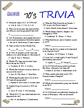 70s Trivia Covers A Very Busy And Fun Decade Were You There