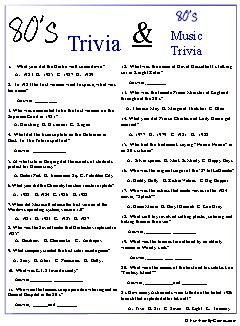 80's memory testing trivia