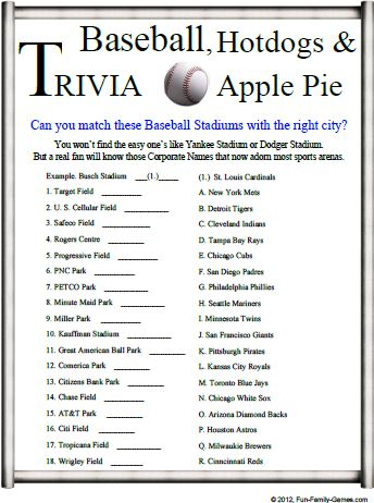 Baseball Trivia Is A Good Challenge For Your Baseball