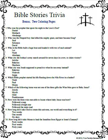 It is a picture of Légend Bible Trivia Printable