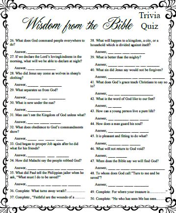 Bible Trivia And Games Christian Family Fun Questions Download