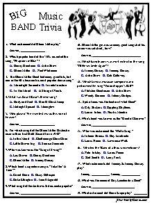 Big Band Trivia....Great Music Era