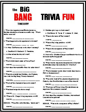 The Big Bang Theory Trivia Fun