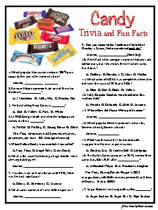 Candy quiz answers and questions
