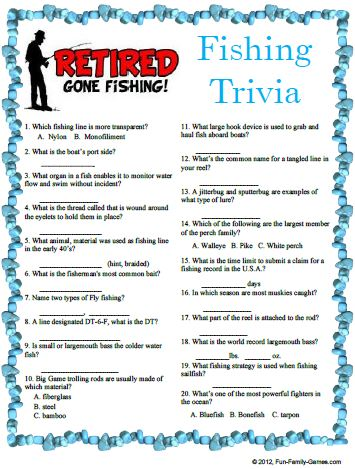 Fishing Trivia game