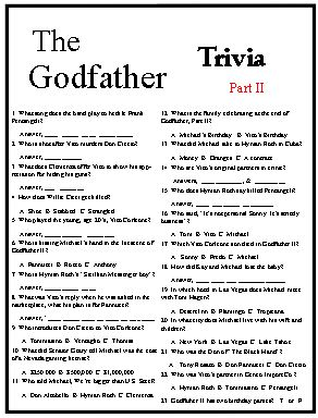 this godfather trivia game covers all three godfather movies