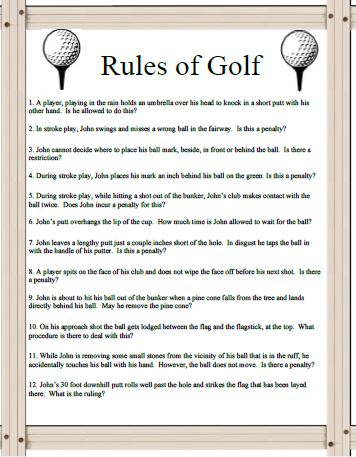 This Golf S Majors Trivia Game Is For Any Golf Enthusiast