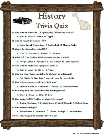 world history trivia questions and answers