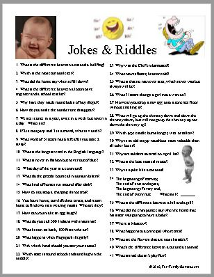 Jokes and Riddles, laughing is good for you.