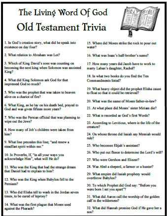 picture about Printable Bible Trivia Games known as Our Residing Phrase Trivia recreation is directly against Gods Term.