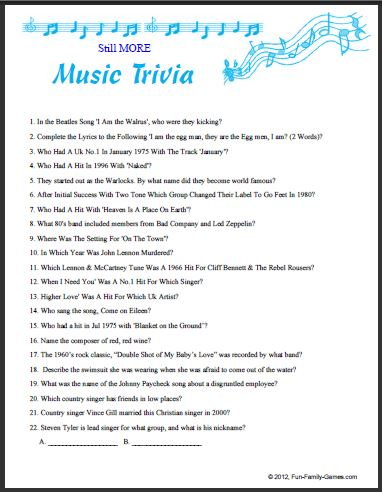 50s Music Trivia With Answers | Autos Post