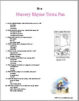 our nursery rhyme fun game lets the little ones shine with their