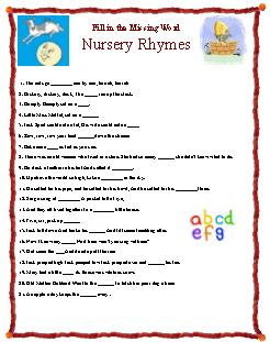 Nursery Rhyme Fun, with Nursery Rhyme songs game