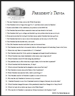 Presidents trivia fun and quotes