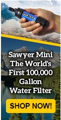 Survival Water Filter, filter up 100,000 gallons