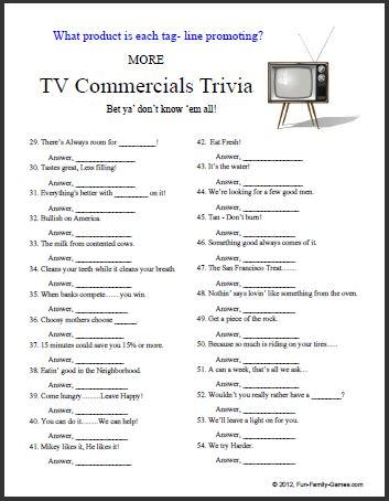 Effortless image with regard to easy printable trivia questions and answers for seniors
