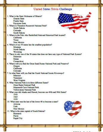 graphic relating to American History Trivia Questions and Answers Printable titled United Says Trivia dilemma will check your experience of