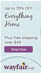 save up to 70% at wayfair with free shipping on orders over $49.