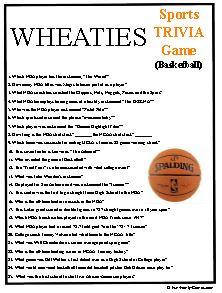 Wheaties Trivia Challenge