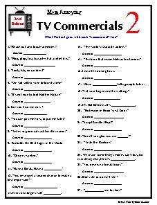 TV Commercials II trivia, 2nd edition