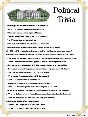 Political Trivia Fun